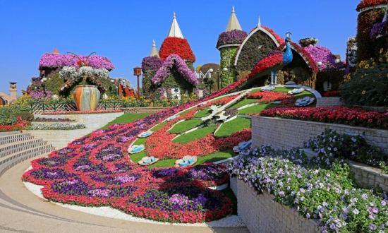 цветните градини в Дубай
